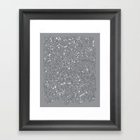 City Grid Night Print Framed Art Print