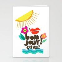 Bonjour! Stationery Cards