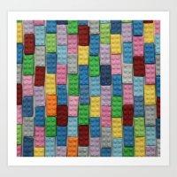 Bricks Zoom Art Print