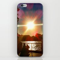 Sunset on the Bank iPhone & iPod Skin