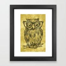 Spectacle Owl Framed Art Print