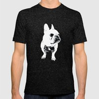 George The Cutest French… Mens Fitted Tee Tri-Black SMALL