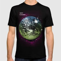 Space To Breathe Mens Fitted Tee Black SMALL