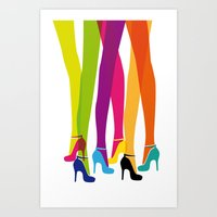 Bright High Heels Art Print