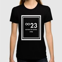 Nothing IRL Matters (Black Label) Womens Fitted Tee Black SMALL