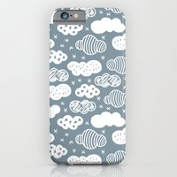 Raw Geometric Clouds Blu… iPhone 6 Slim Case