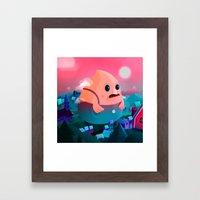 A Stranger in this town Framed Art Print
