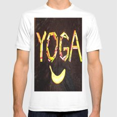 YOGA-B-SMILE White Mens Fitted Tee SMALL
