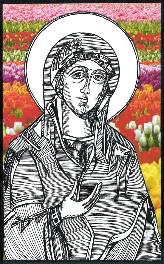 Madonna of the Tulips Art Print