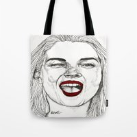 Kate with the Red Lips Tote Bag
