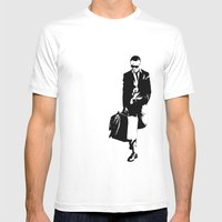 Trainsandwhiskey Mens Fitted Tee White SMALL