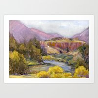 Ruby Mountain Art Print