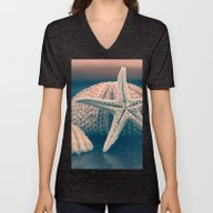 Unisex V-Neck featuring Seashells 4 by Gzm_guvenc