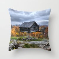 Heart in a Cage Throw Pillow