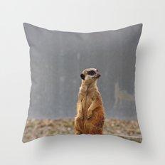 Meerkat No.1 Throw Pillow
