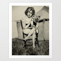 Circus. Art Print