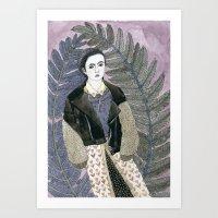 In Ferns Art Print