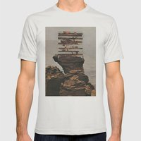 Err Tha Ka Wake Mens Fitted Tee Silver SMALL