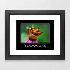 Inspirational Teamwork Framed Art Print