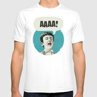 AAAA! (Blue) Mens Fitted Tee White SMALL