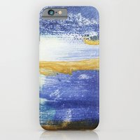 iPhone & iPod Case featuring PAINTED WITH THE BLUES by L I S S I N K  C R E A T I V E