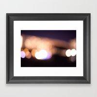 Beach Lights Framed Art Print