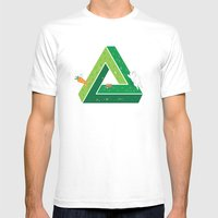Chasing Mens Fitted Tee White SMALL