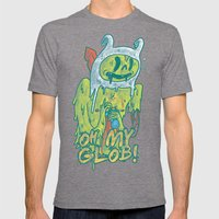 Zombie Finn Mens Fitted Tee Tri-Grey SMALL