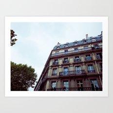 PARISIAN FACADES. Art Print
