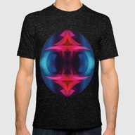 Abstract 001 Mens Fitted Tee Tri-Black SMALL