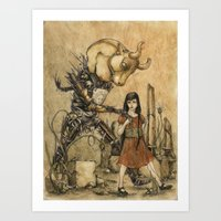 Minotaur Art Print