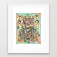 the functioning parts Framed Art Print