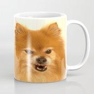 Cute Pomeranian Dog Mug