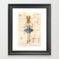 Bunny Ballerina Framed Art Print