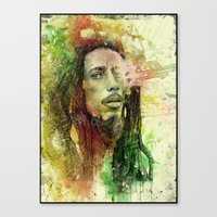 Reggae Rebel (Marley) Canvas Print