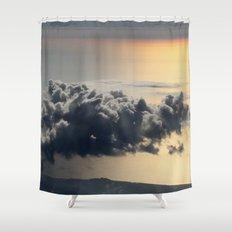 cloud above ocean Shower Curtain