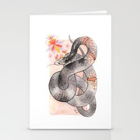 Glowing Corn Snake Stationery Cards