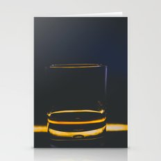 Whiskey Glass Stationery Cards
