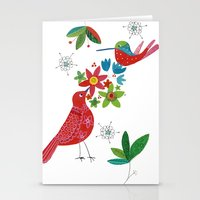 Birds meeting Stationery Cards