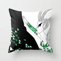 Capricorn / 12 Signs Of … Throw Pillow