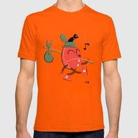 It's A Carefree Hobo Lif… Mens Fitted Tee Orange SMALL