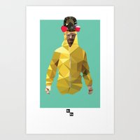 Walter White // Breaking… Art Print