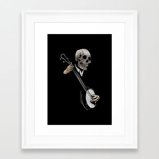 Skullboys' Banjo Blues Framed Art Print