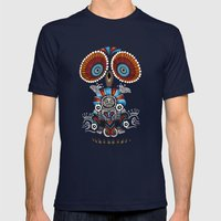 Mexican Owl Mens Fitted Tee Navy SMALL