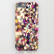 Rainbow Sprinkles - an abstract photograph iPhone 6 Slim Case