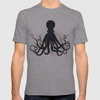 Octopi Mens Fitted Tee Athletic Grey SMALL