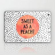 Sweet As A Peach! Laptop & iPad Skin