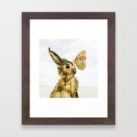Bunny Spring Love Easter… Framed Art Print