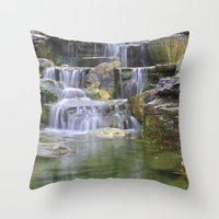 Waterfalls Color Photo N… Throw Pillow