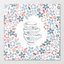 A bunch of flowers is just my cup of tea Canvas Print